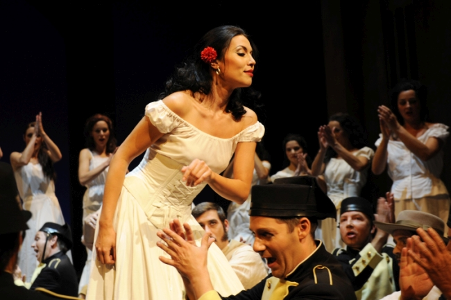 Katarina Bradic as Carmen in Erfurt